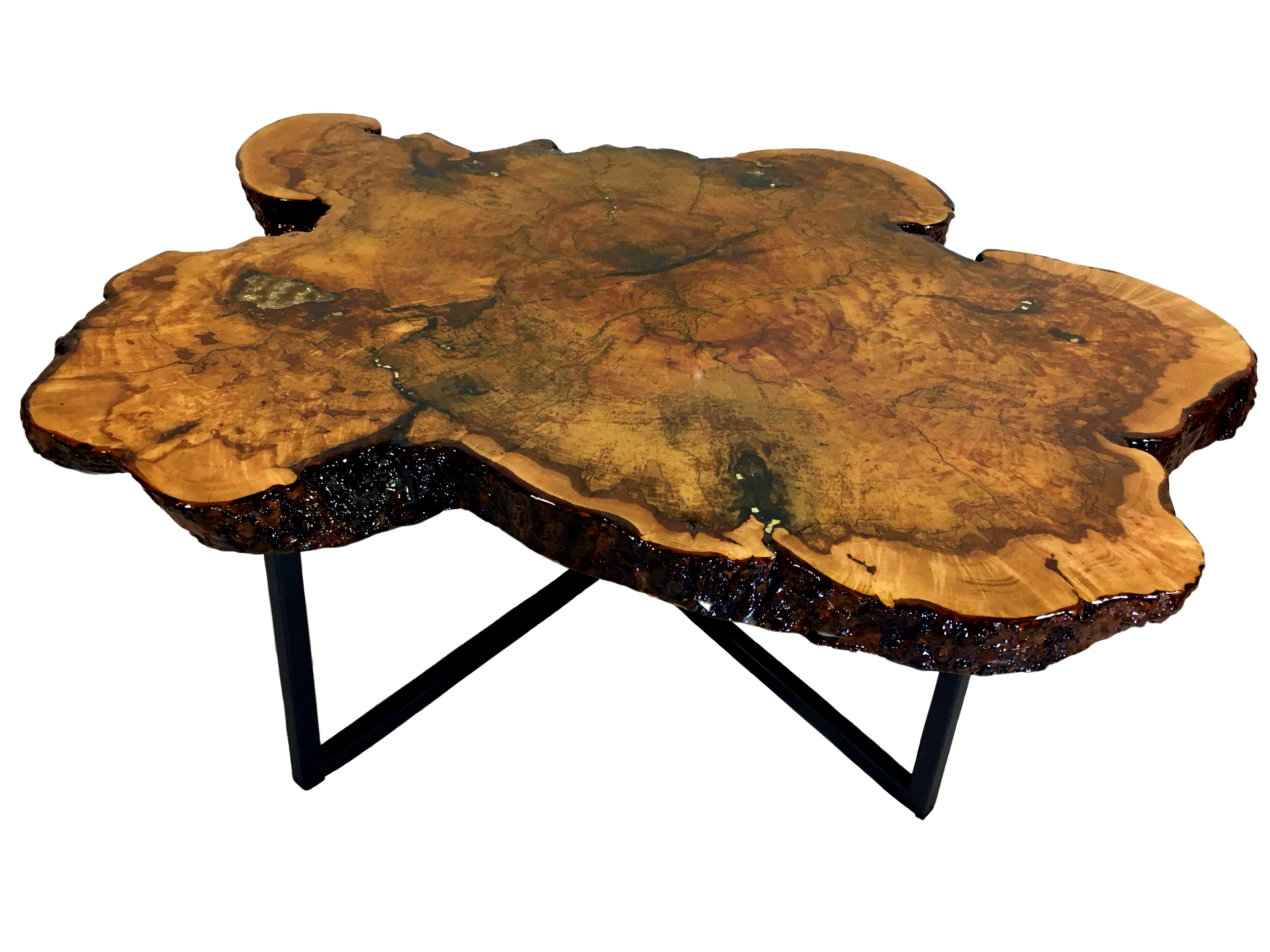 Maple Coffee Table With Granite Inlay kyoutbackwoodworking