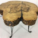 maple, spalted end table, resin filled cracks