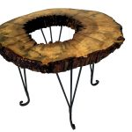 maple, live-edge, end table, solid wood, rustic