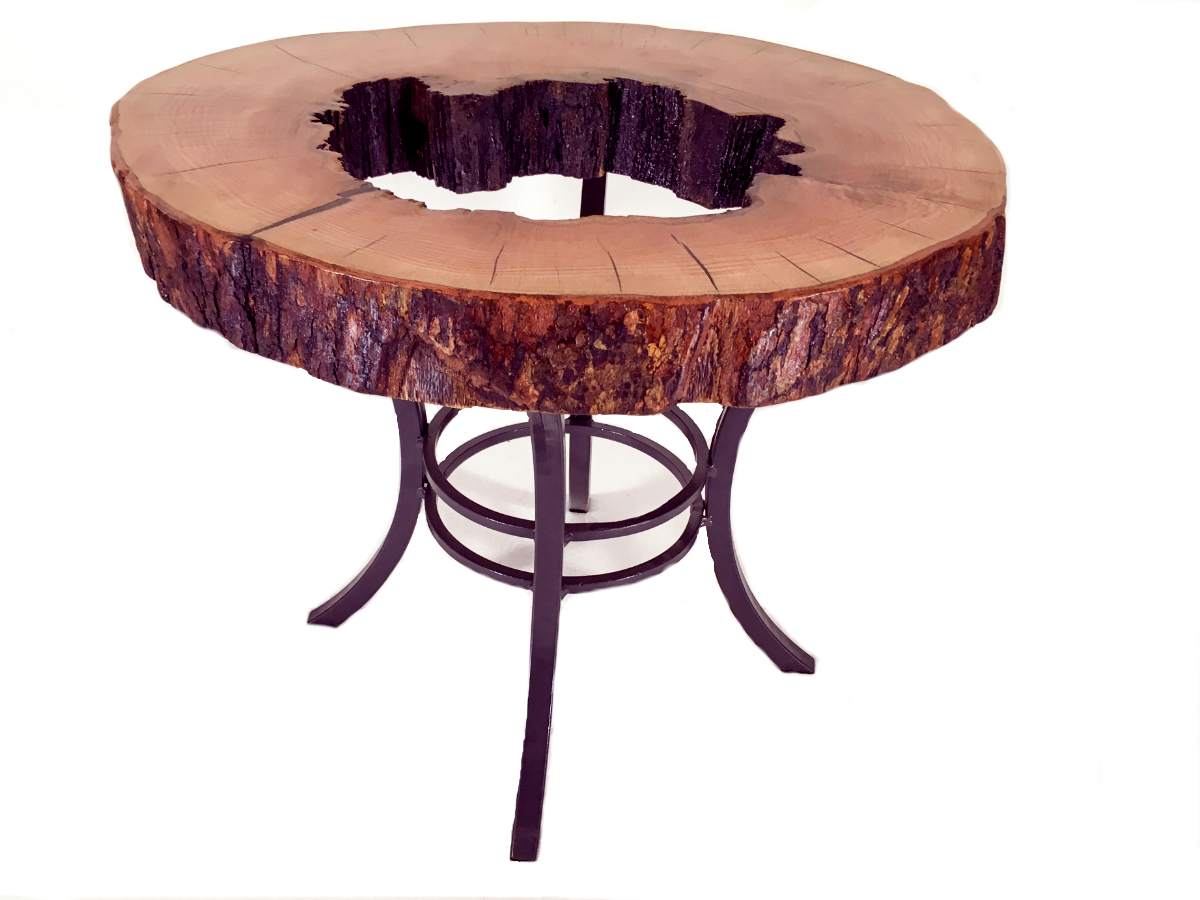 hollowed maple end table