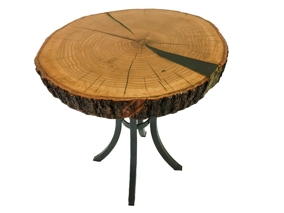 Rustic Solid Oak End Table