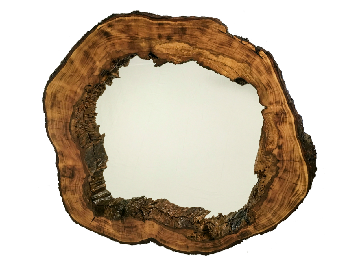 rustic reclaimed wood mirror