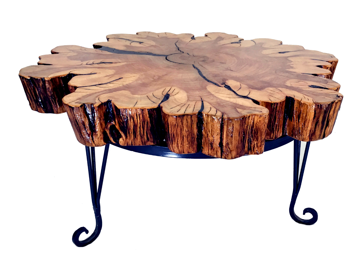 Reclaimed cypress coffee table kyoutbackwoodworkingcom for Cypress slab coffee table
