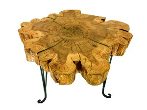 solid cypress end table