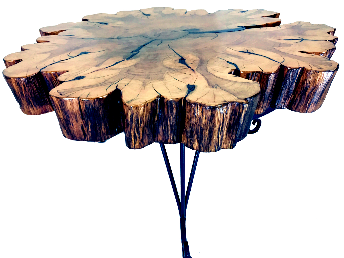 solid cypress coffee table, rustic reclaimed wood