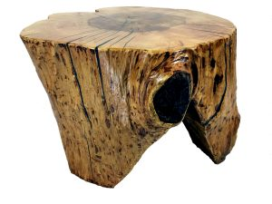 solid maple end table, rustic reclaimed wood