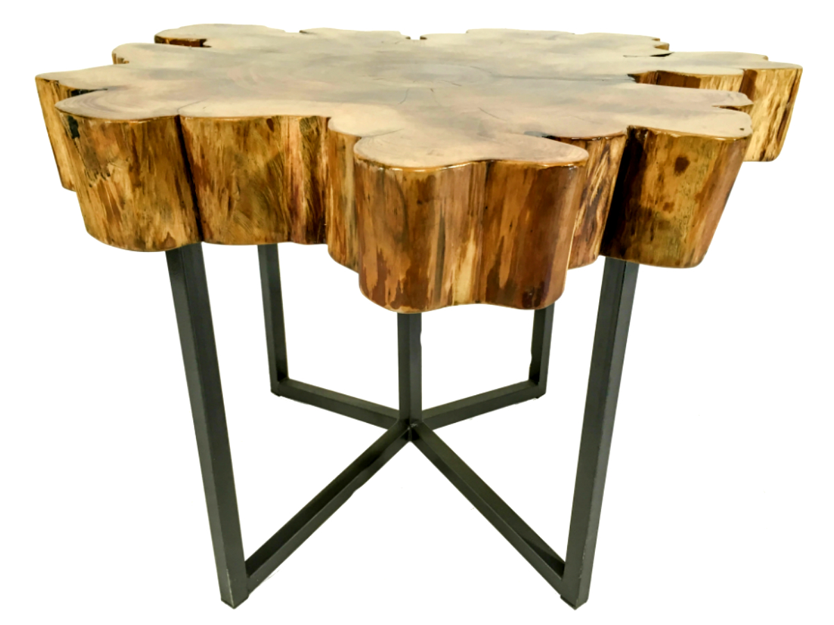 Live Edge Cypress End Table