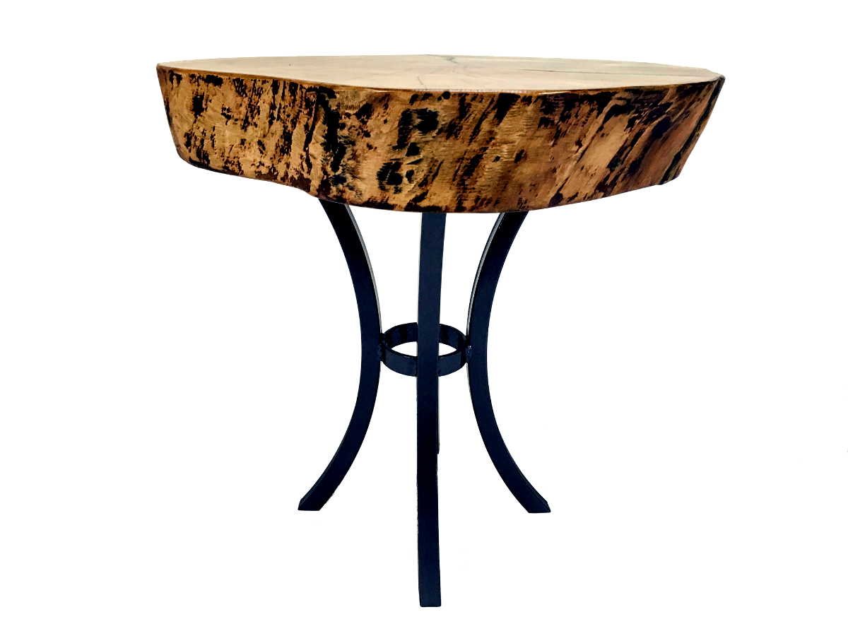 Live Edge Sycamore End Table
