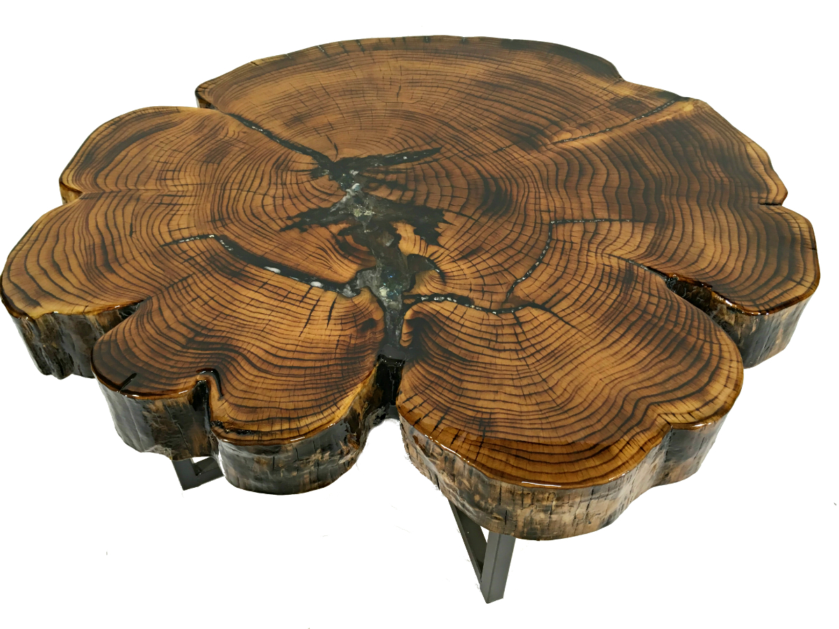 Solid Cypress Coffee Table With Inlay Kyoutbackwoodworking