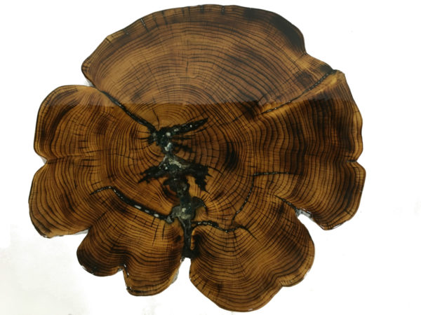 Solid Cypress Coffee Table With Inlay