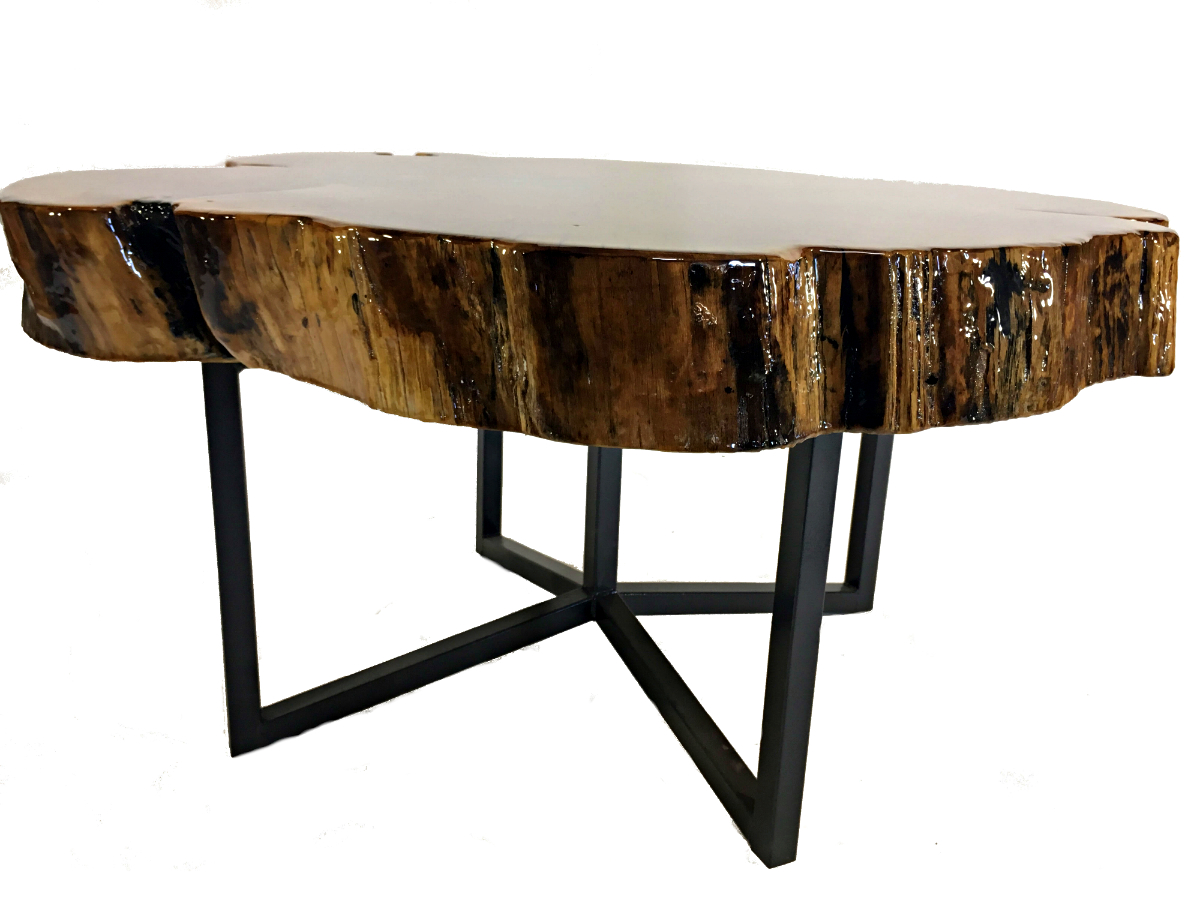 Reclaimed Solid Catalpa Wood Table